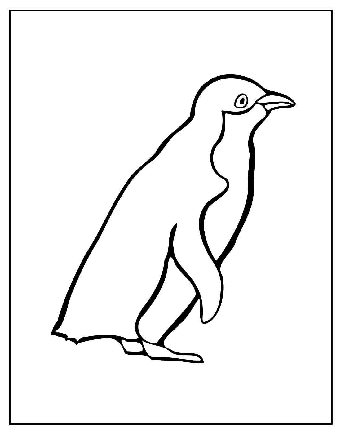 Desenho para pintar de Pinguim