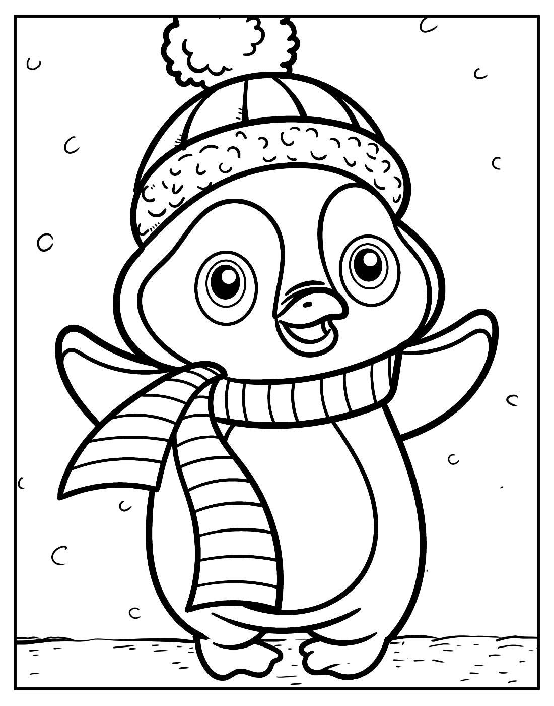 Desenho para colorir Pinguim