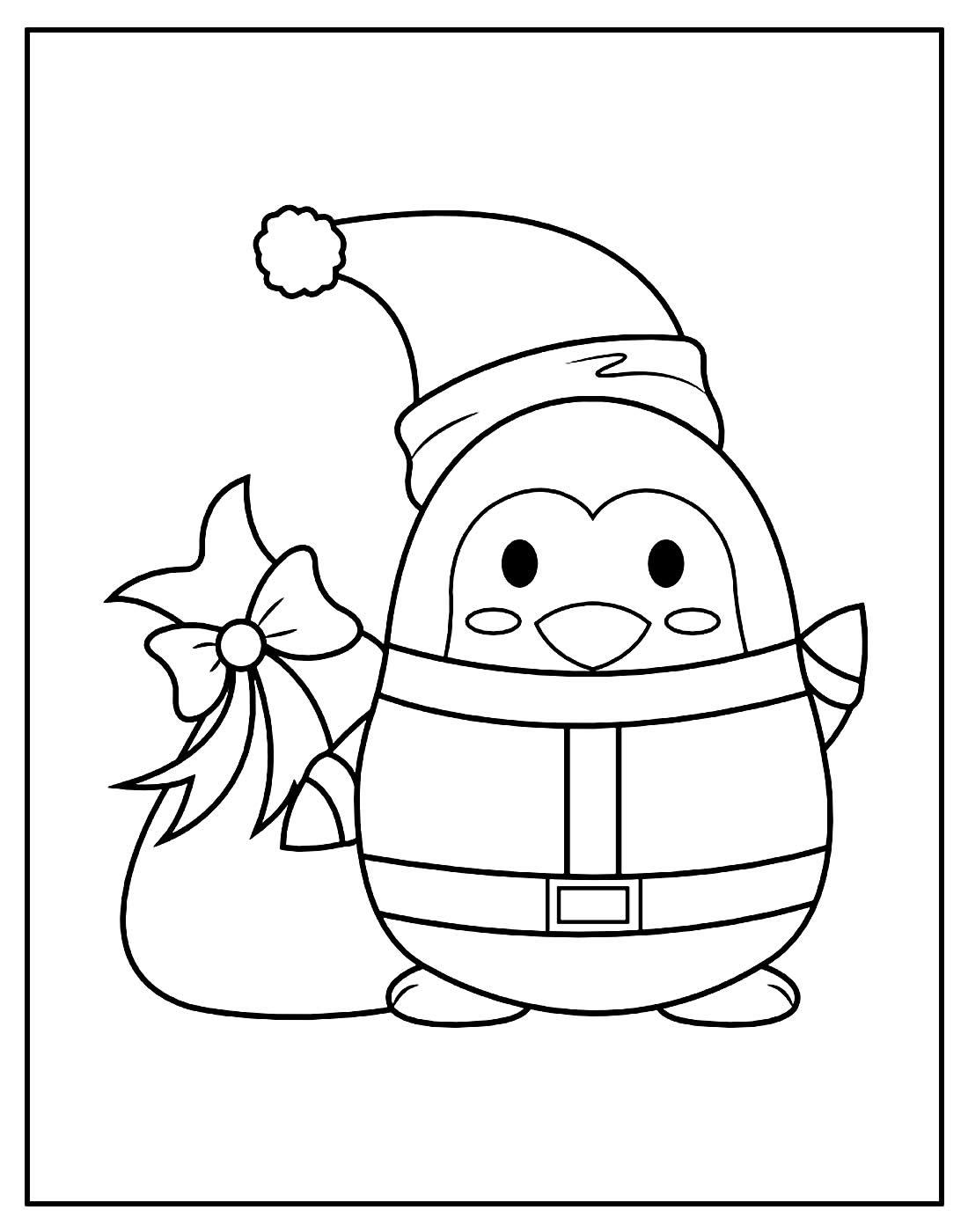 Desenho para colorir de Pinguim