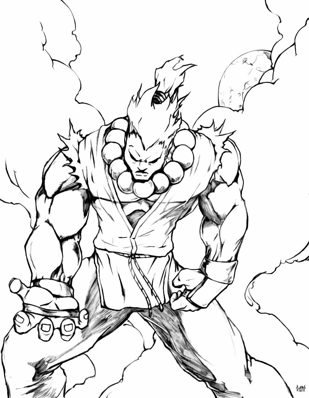 Imagem de Street Fighter para colorir