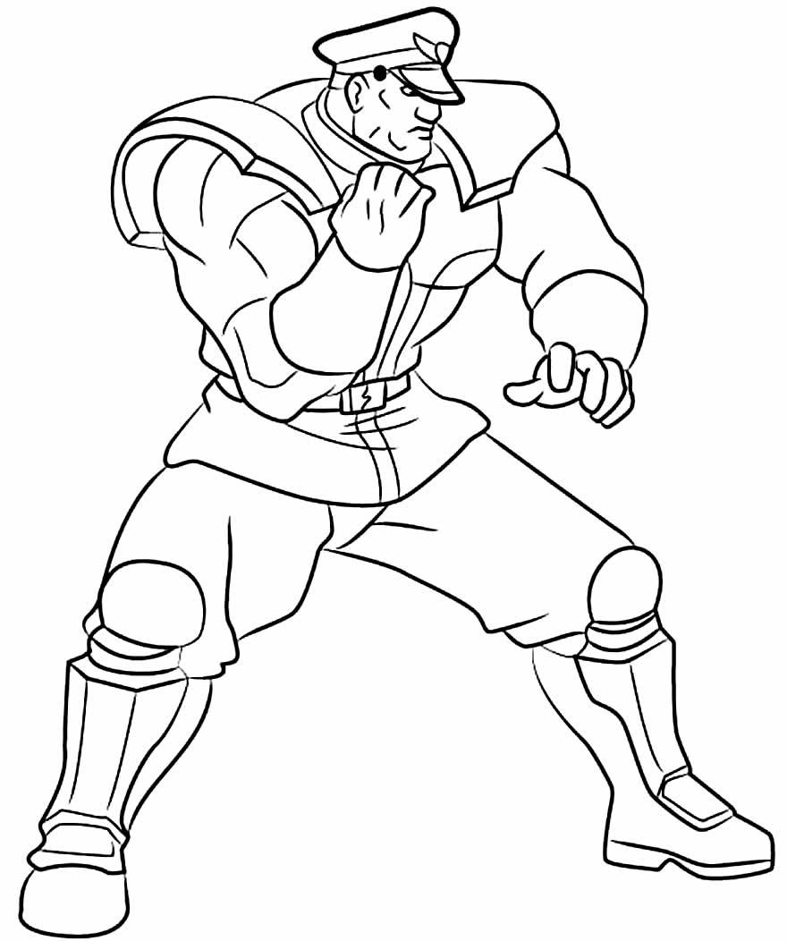 Desenho de Street Fighter para pintar