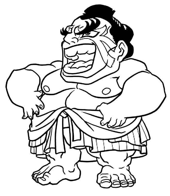 Desenho para colorir de Honda - Street Fighter
