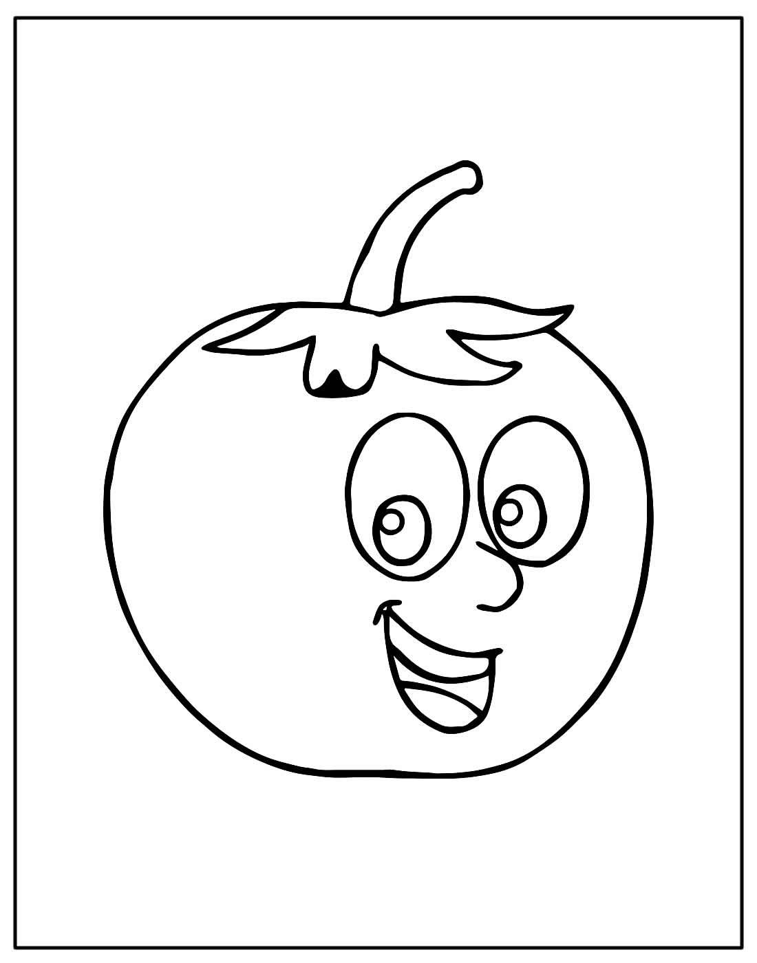 Página para colorir de Tomate