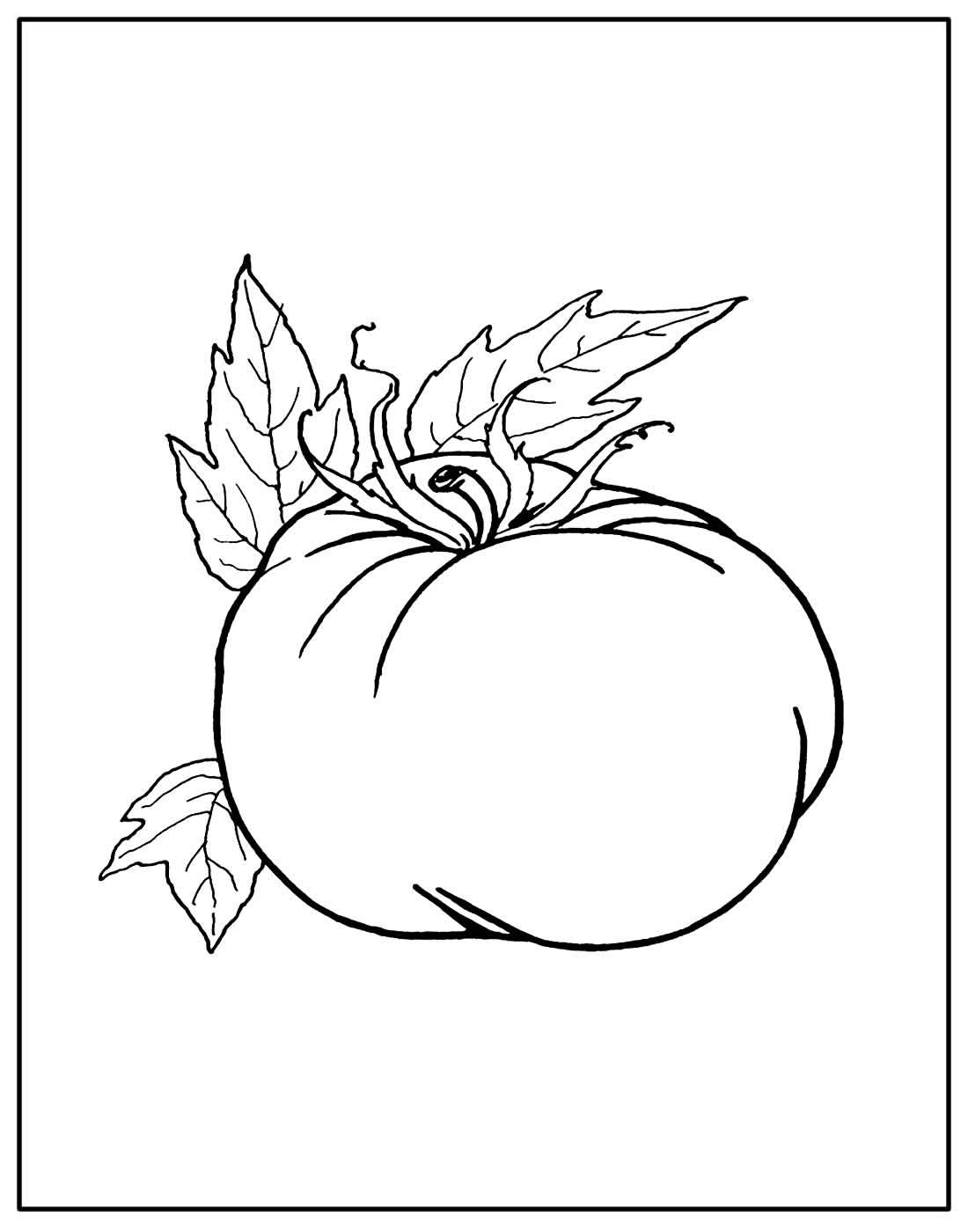 Desenho de Tomate para colorir