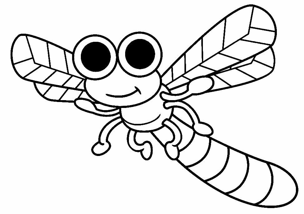 Desenho de inseto para pintar