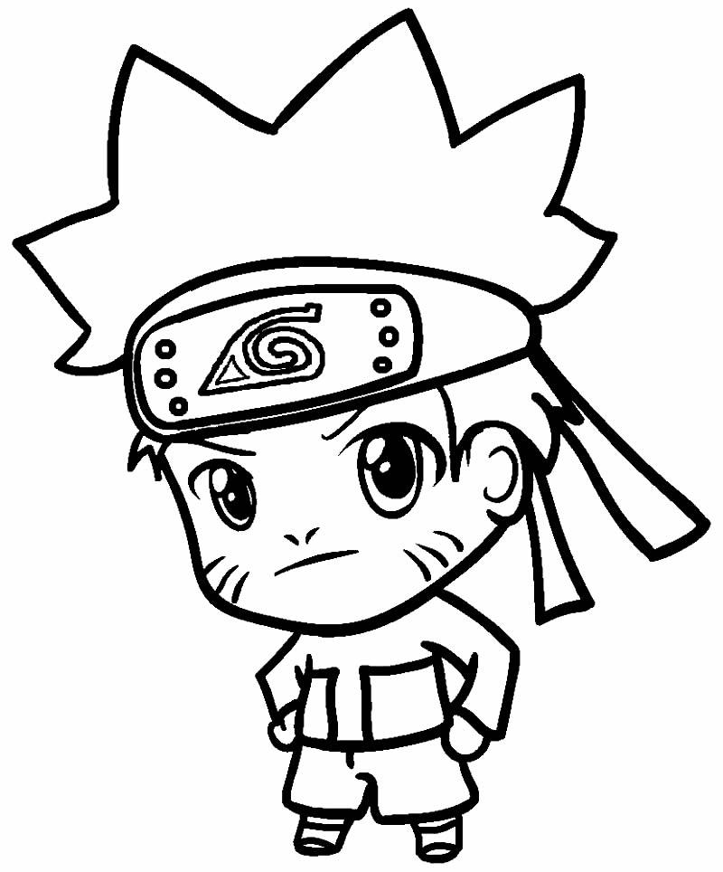Desenho de Naruto para pintar