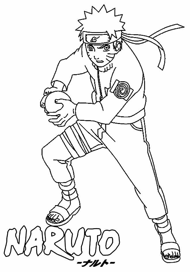 Imagem de Naruto para colorir