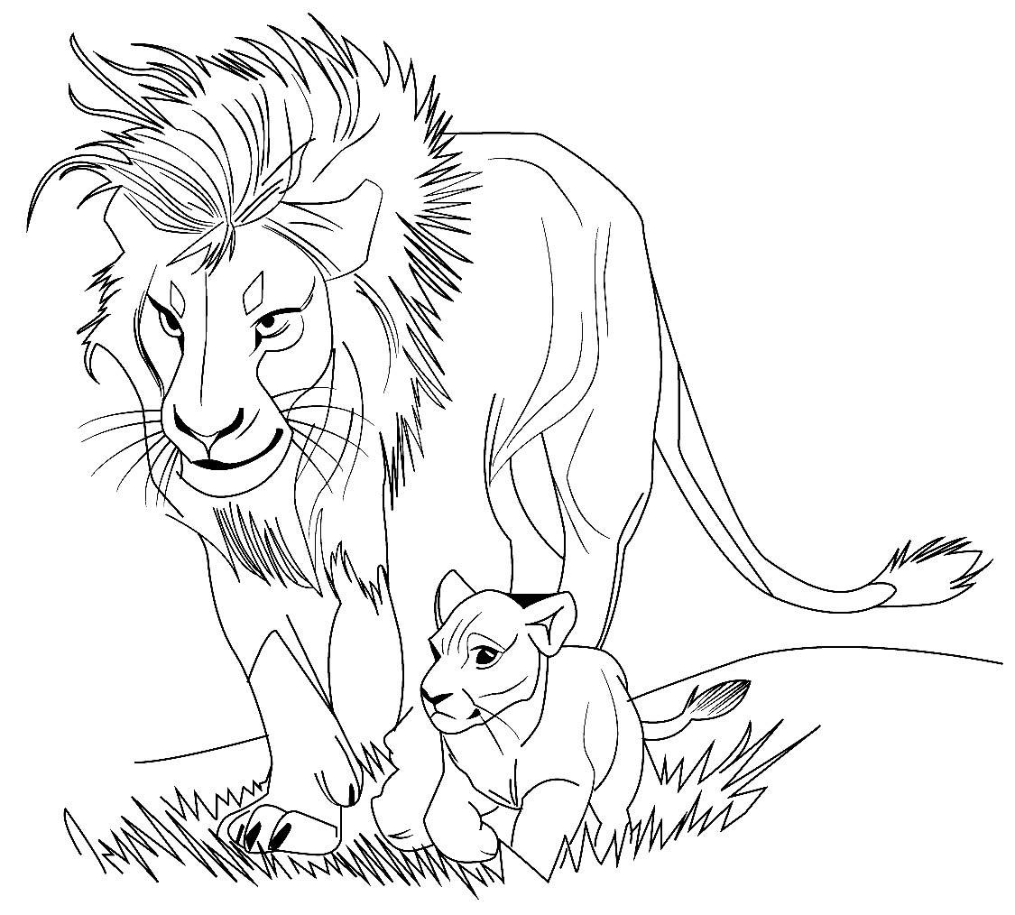 Imagem de animais para colorir