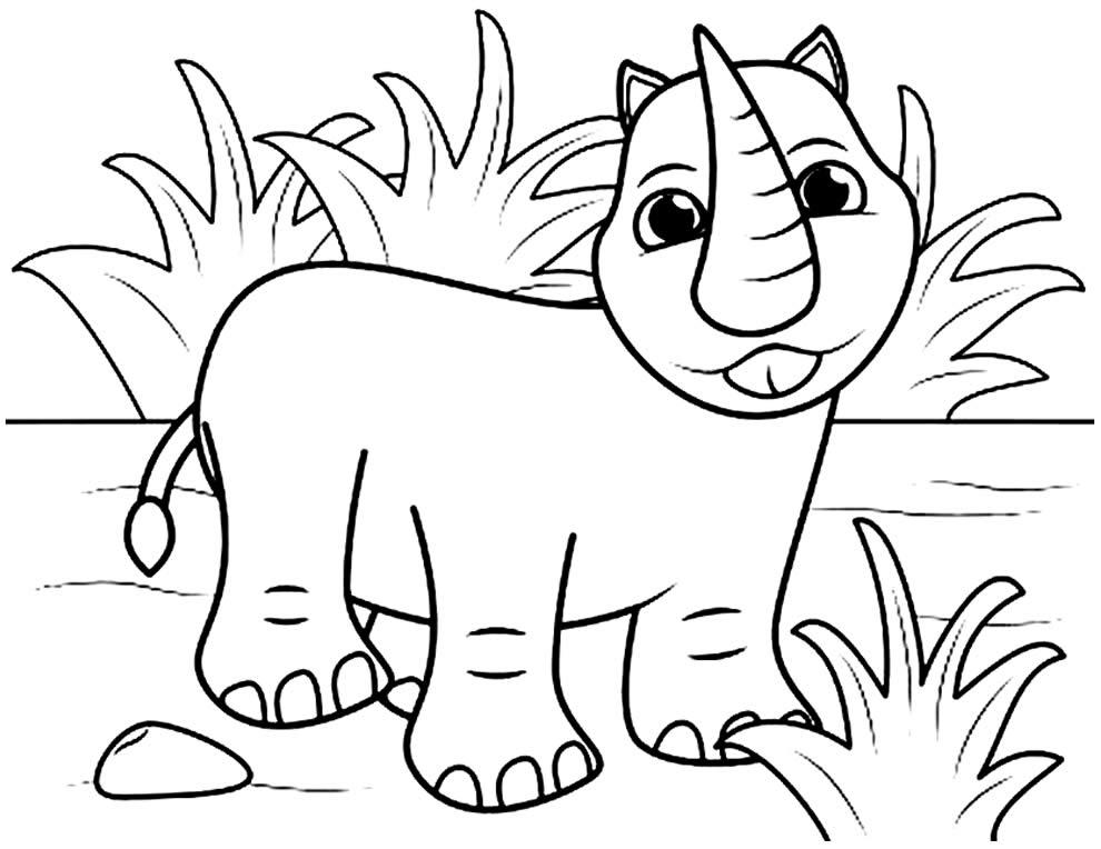 Desenho de safari para pintar
