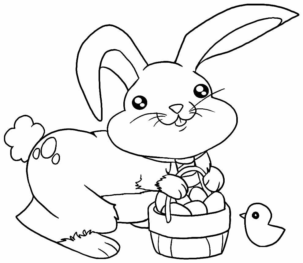 Desenho de coelhinho para imprimir e colorir