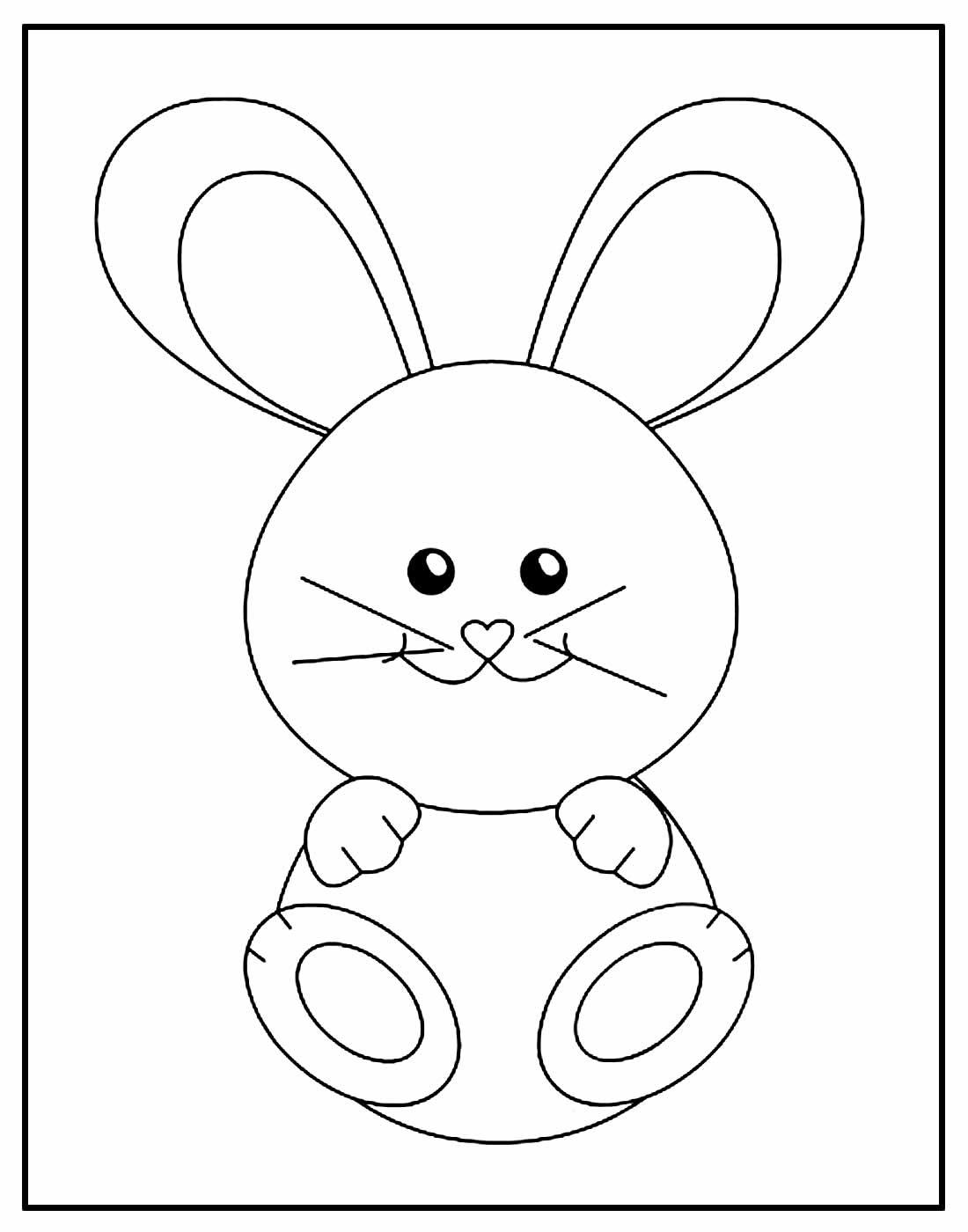 Desenho para colorir de Coelhinho da Páscoa