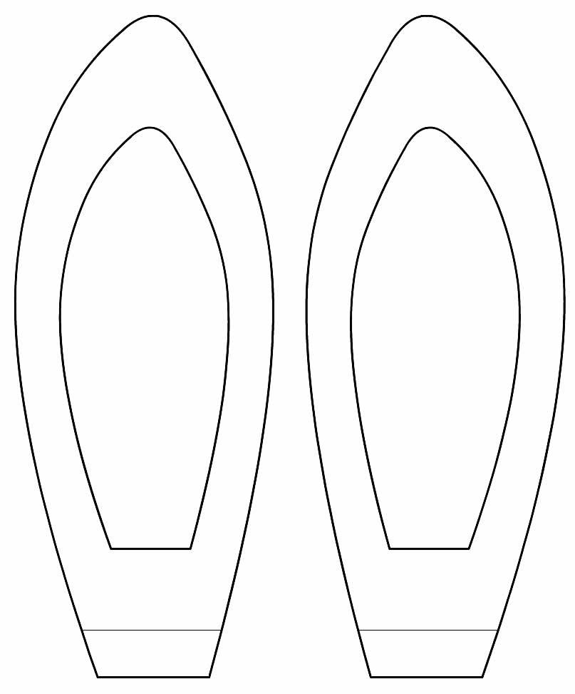 Moldes para orelhas de coelho de Páscoa