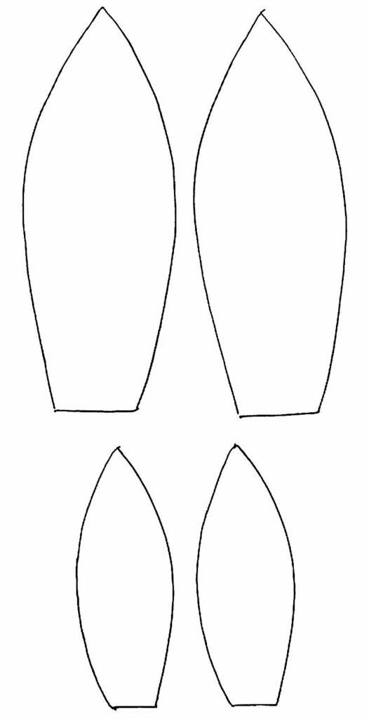 Moldes de orelhinhas de coelho