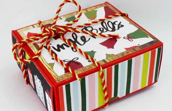 Caixinha de Natal com molde