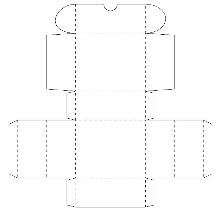 Molde para caixa de papel