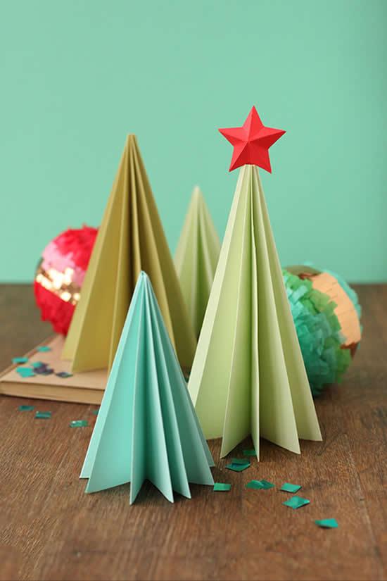 Decoração de Árvore de Natal de papel