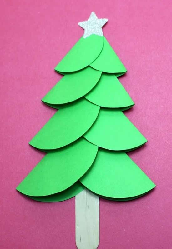 Árvore de Natal de papel - Atividade de arte