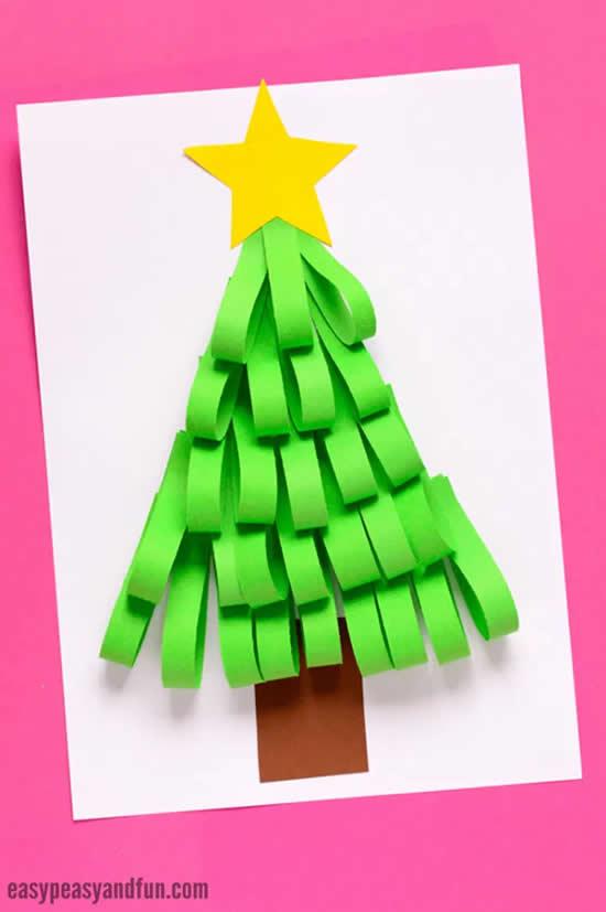 Árvore de Natal de papel