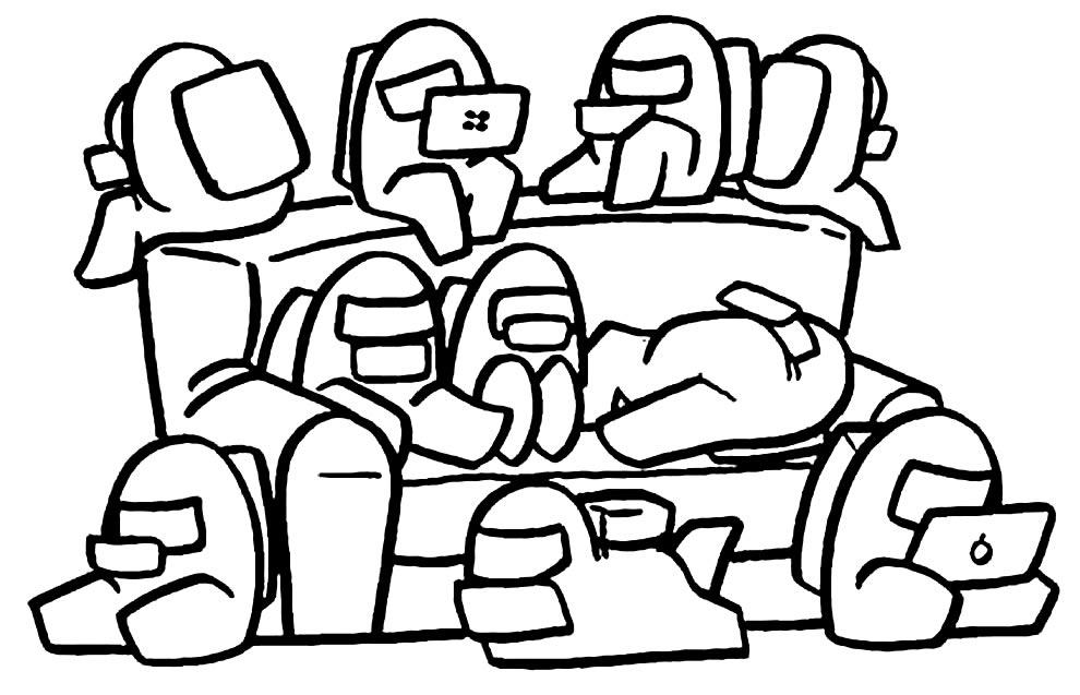 Desenho de Among Us para colorir
