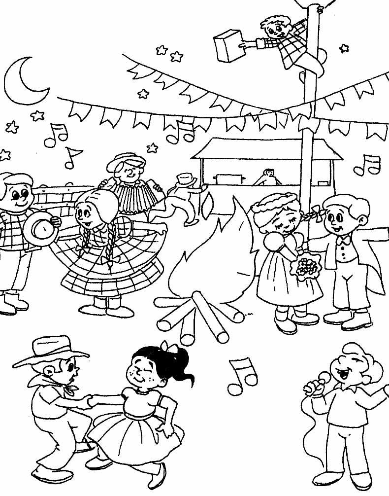 Imagem de Festa Junina para colorir