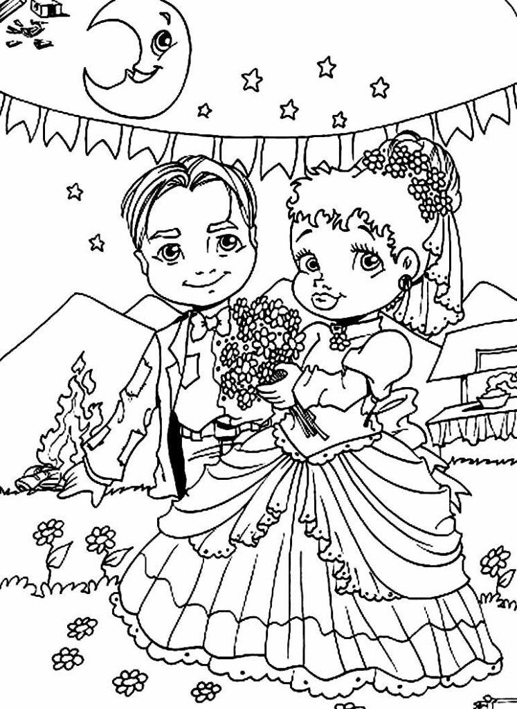Desenhos de Festa Junina para colorir