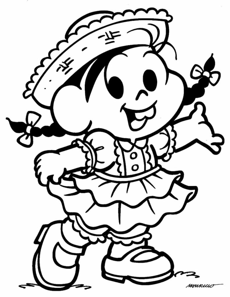 Desenho da Turma da Mônica - Festa Junina