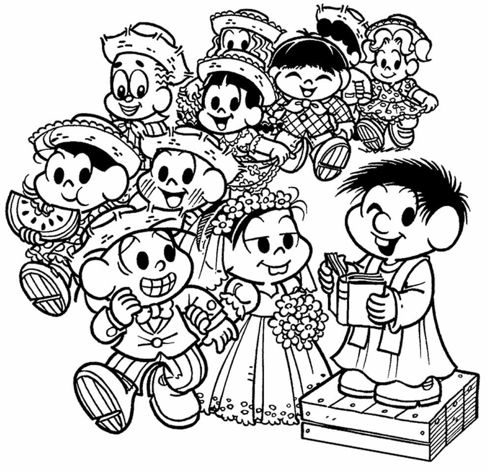 Lindos desenhos do São João da Turma da Mônica