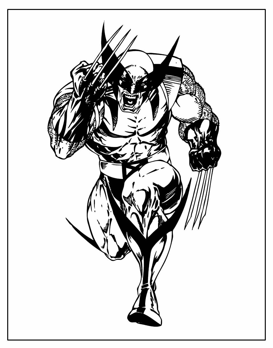 Página para pintar de Wolverine