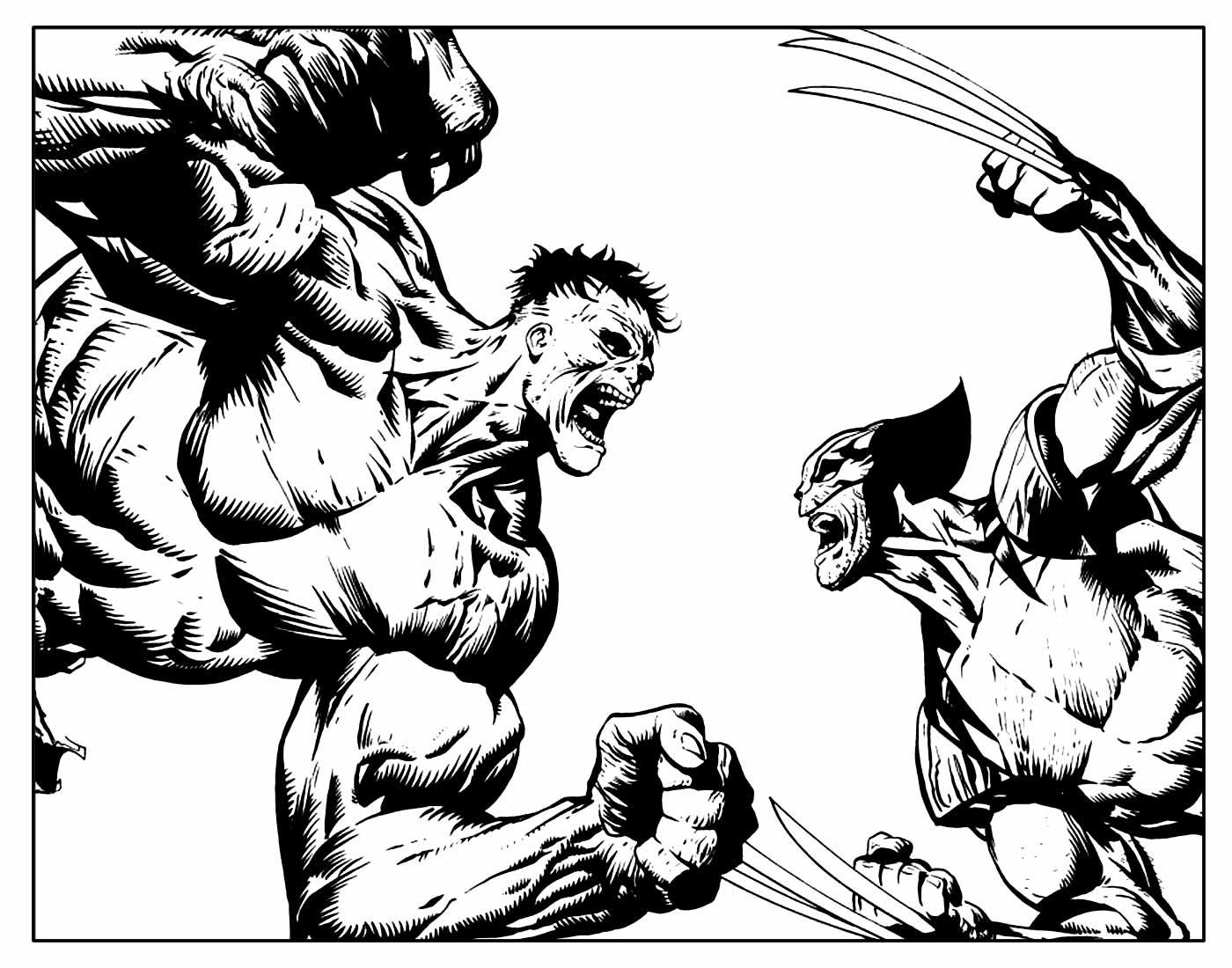 Desenho de Wolverine para colorir