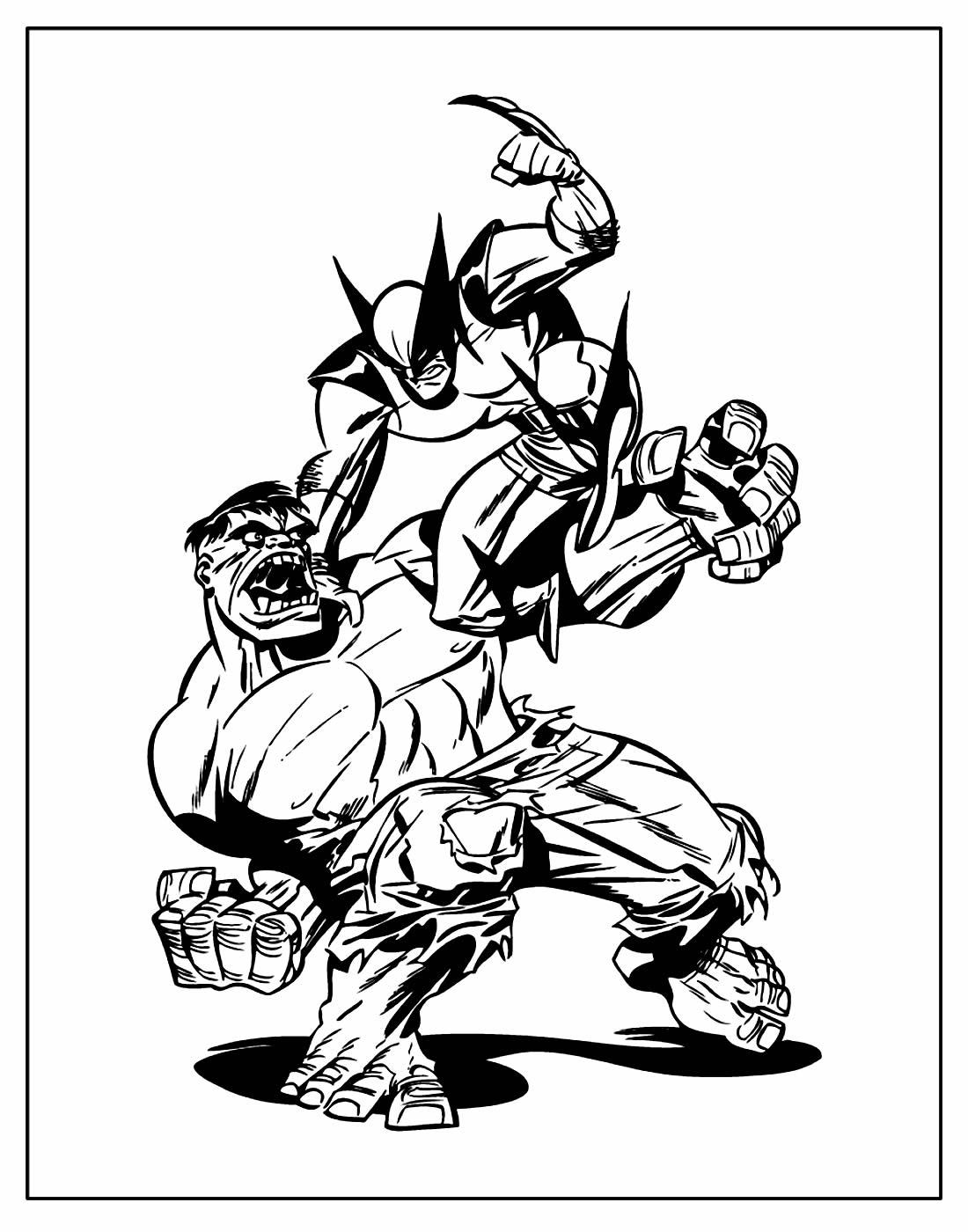 Página para colorir de Wolverine