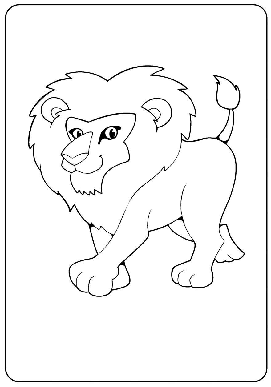 Imagem linda de leão para pintar