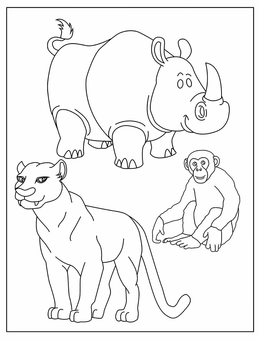 Página para colorir de Safari