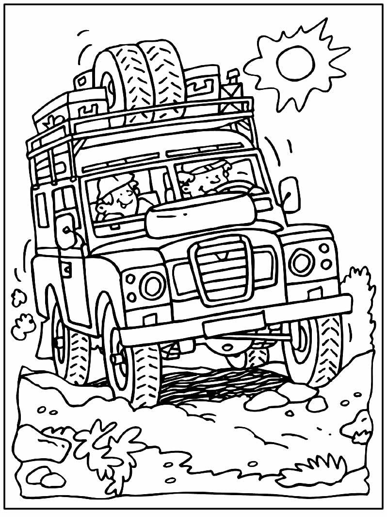 Desenho de Safari para colorir