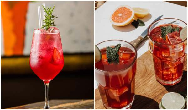 Drinks deliciosos com gin e morango
