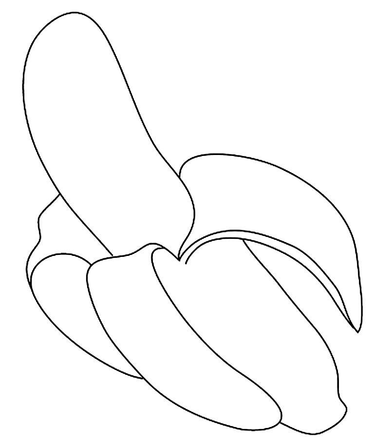 Desenho para colorir de Banana