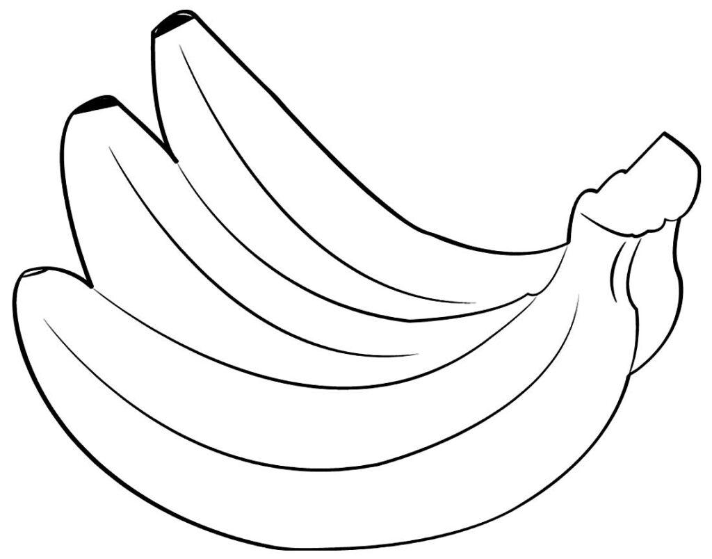 Imagem de Banana para colorir