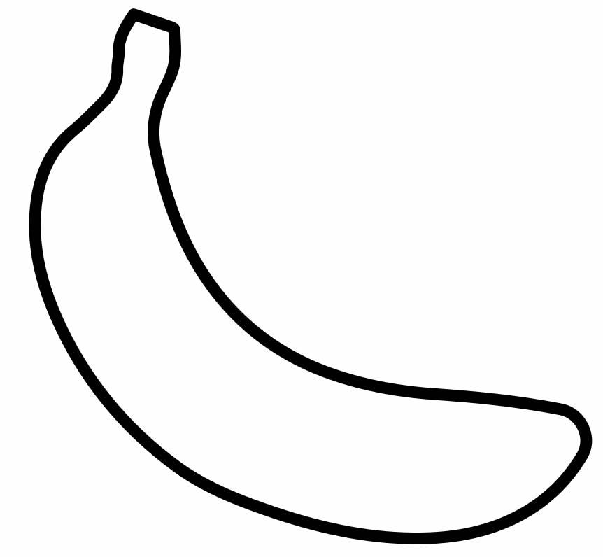 Desenho de Banana para pintar