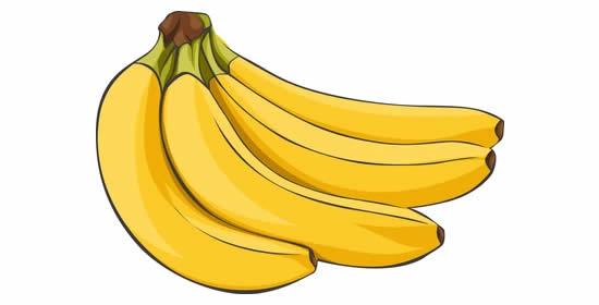 Desenho de Banana colorido