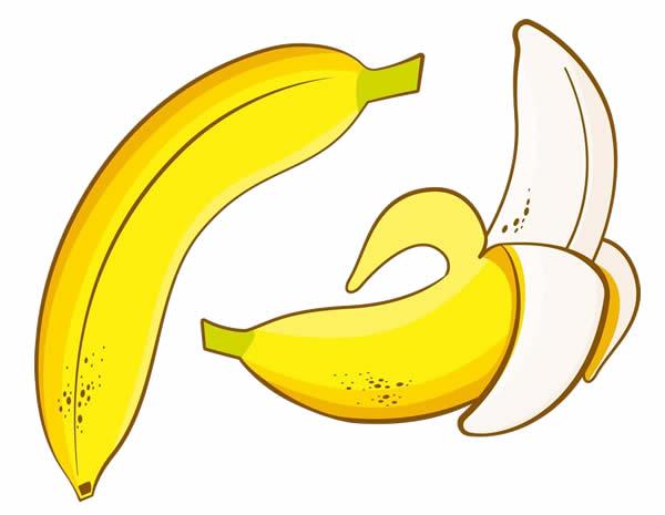 Desenho colorido de Banana