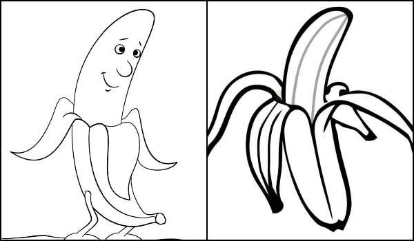 Desenho de Bananas para colorir