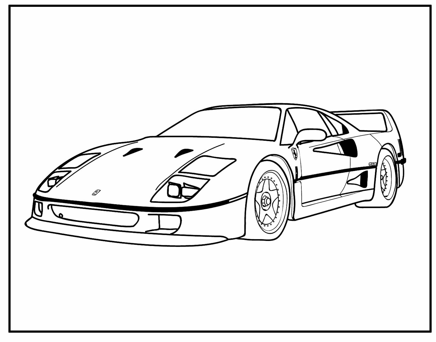 Desenho de Carro para colorir e pintar