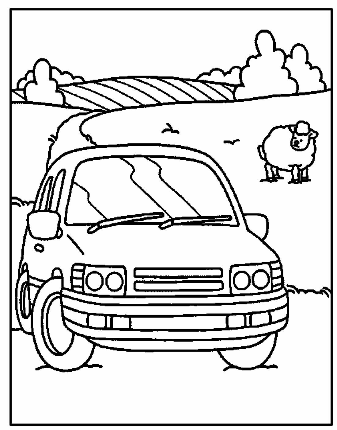 Desenho de Carro lindo para colorir