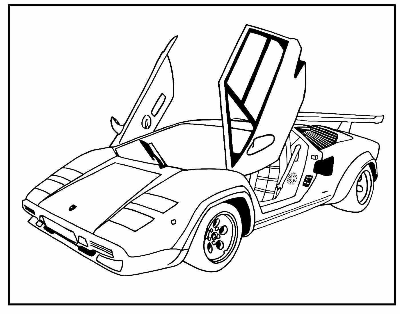 Página para colorir de Carro Potente