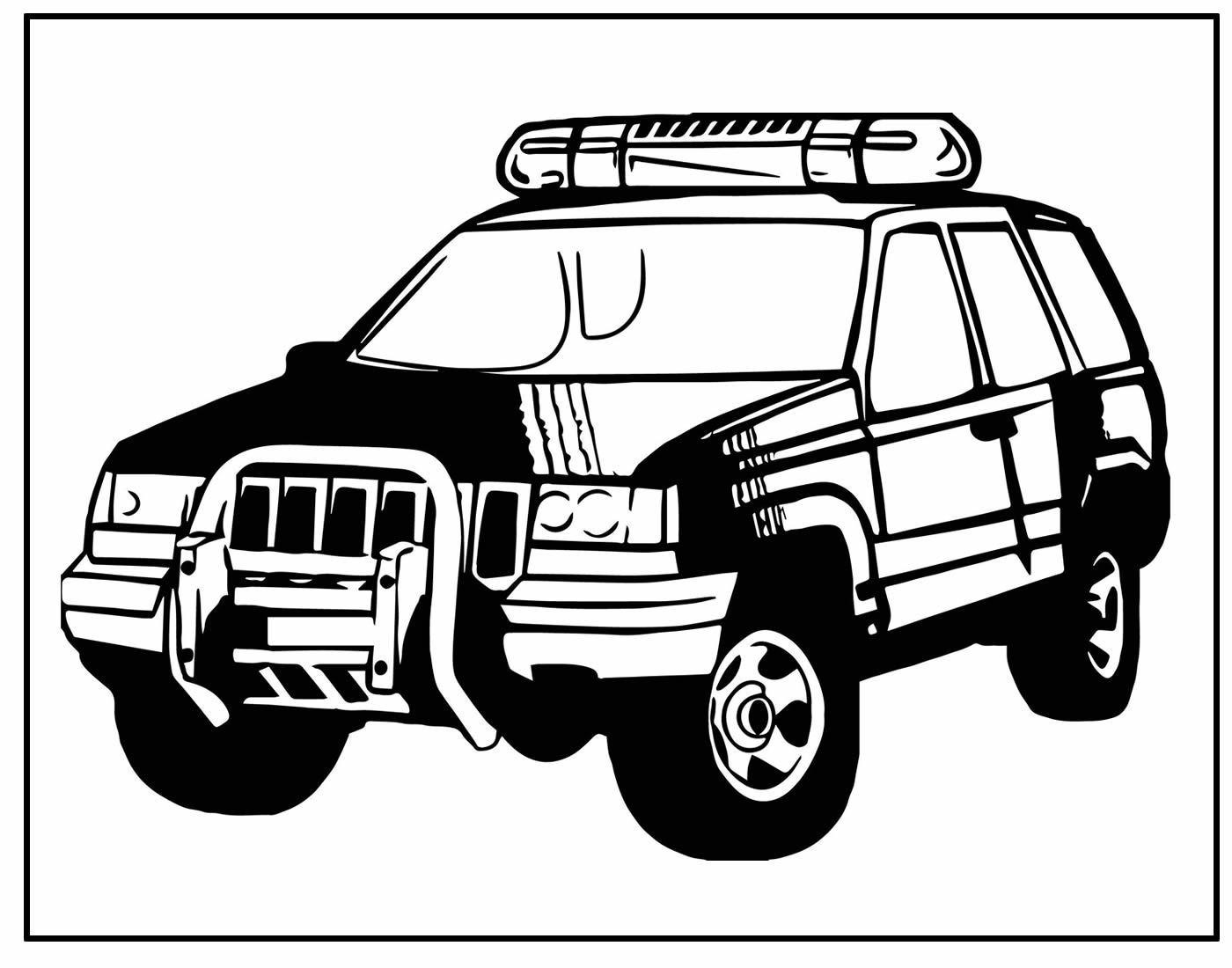 Desenho de Carro de Polícia para colorir