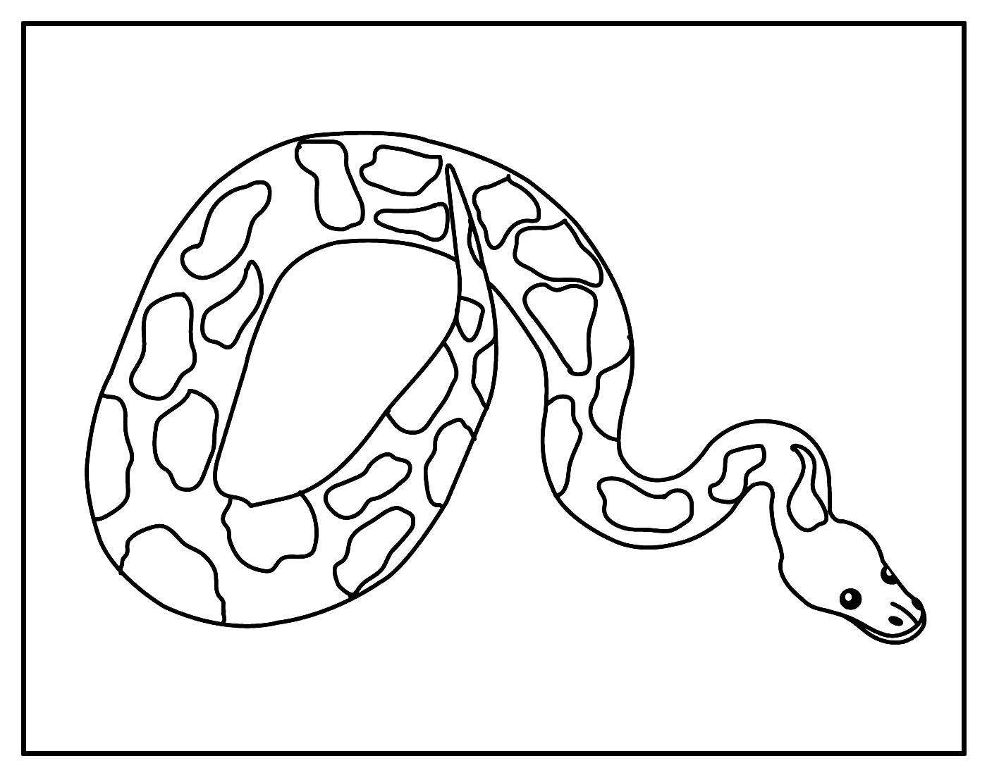 Página para colorir de Cobra