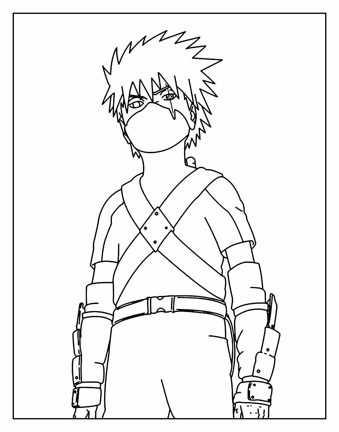 Desenho para colorir de Sasuke Uchiha