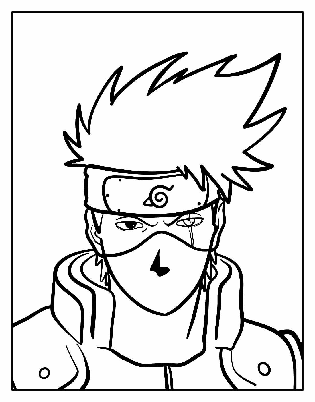 Desenho para colorir de Kakashi Hatake