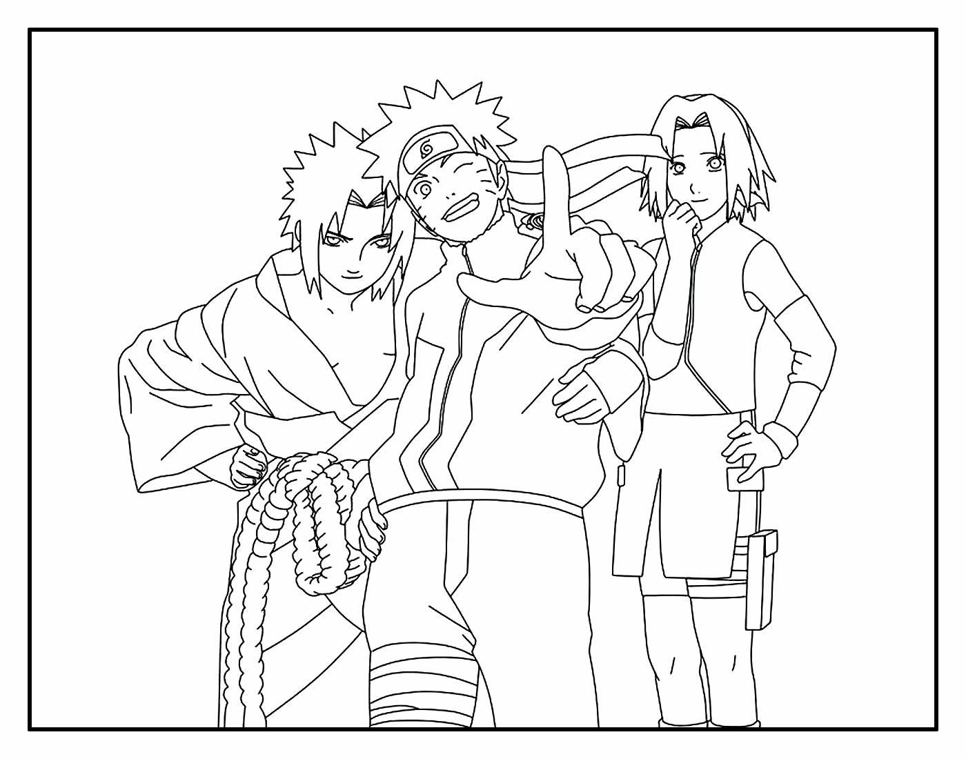 Lindos Desenhos para colorir de Naruto