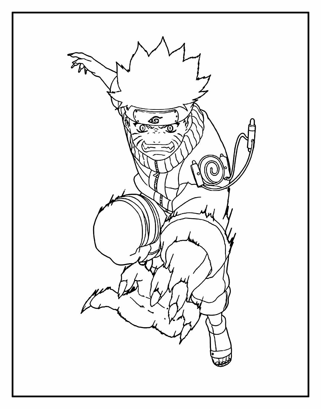 Desenho para colorir de Naruto