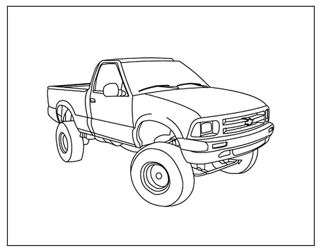 Desenho de Picape